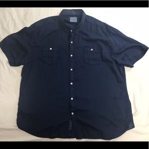 Tommy Bahama Jean Wash Button Up 3XL